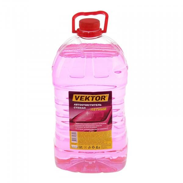 жидкость для стеклоомывателя летняя 4л , vector 4602666108401