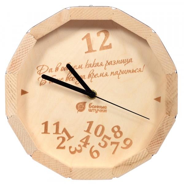 часы кварцевые в форме бочки в бане всегда время париться! для бани и сауны 27*8 см