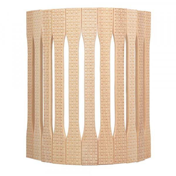 абажур для светильника, угловой, липа, с орнаментом рогожка, 31*9*22 см банные штучки