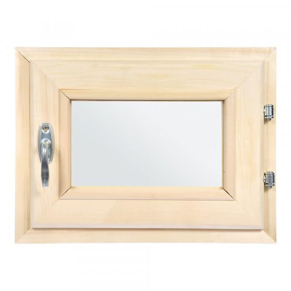 форточка в парную, двойное стекло, 0,3вх0,4ш м с ручкой, затвором, петлями банные штучки