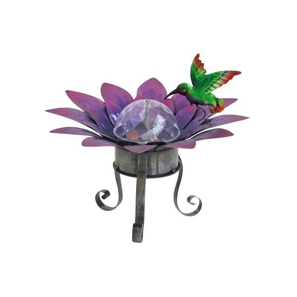 фонарь садовый чудесный сад 696 кувшинка св/диодный вращающийся на солнечной батарее, металл