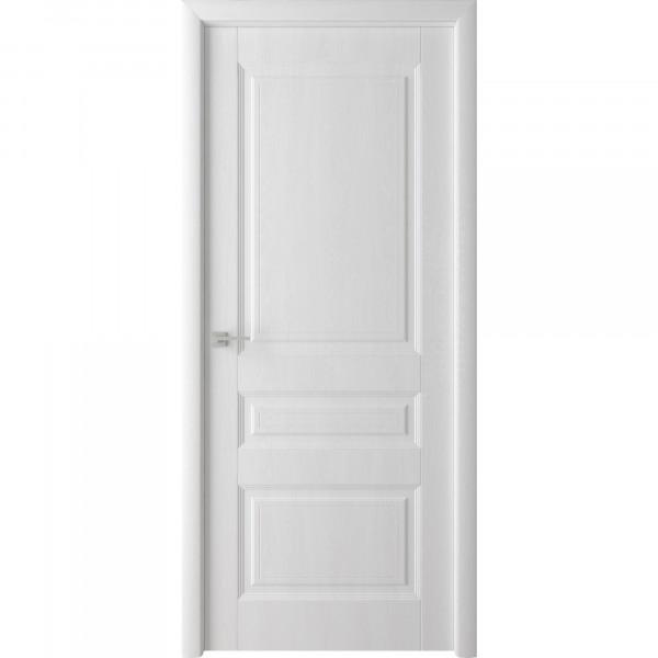 полотно дверное глухое каскад,пвх 2000х800мм,белый ясень