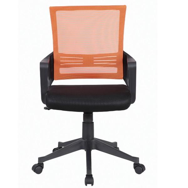 кресло brabix balance mg-320 черный/оранжевый