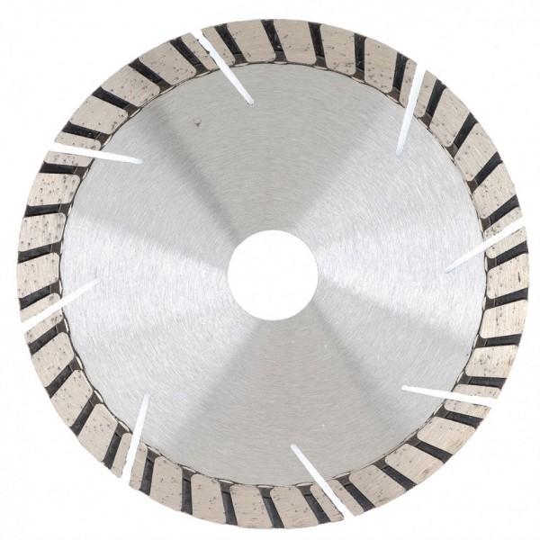 Фото - диск алмазный ф230х22,2мм турбо-сегментный сухое резание gross 73026 алмазный диск gross 115х22 2мм 73028