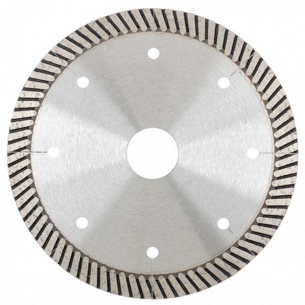 Фото - диск алмазный ф125х22,2мм турбо с лазерной перфорацией сухое резание gross 73029 алмазный диск gross 115х22 2мм 73028