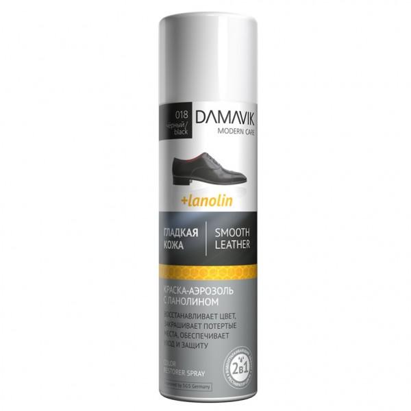 краска-аэрозоль для гладкой кожи 250мл dамаv_к черный с ланолином 9002-018