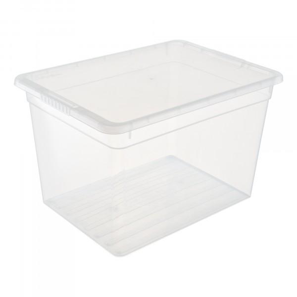 ящик для хранения 20л basic funbox с крышкой fb1071 ящик для хранения полимербыт с крышкой прозрачный пластик 16л