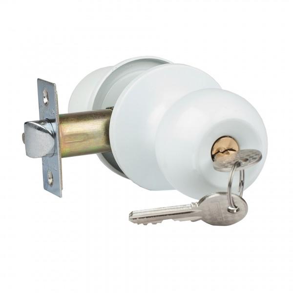 ручка дверная с защелкой trodos зш-01 ключ-фиксатор, цвет белый защелка дверная nora m зш 01 старая медь new