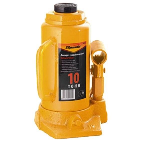 домкрат гидравлический бутылочный 10т h200-385мм sparta 50325