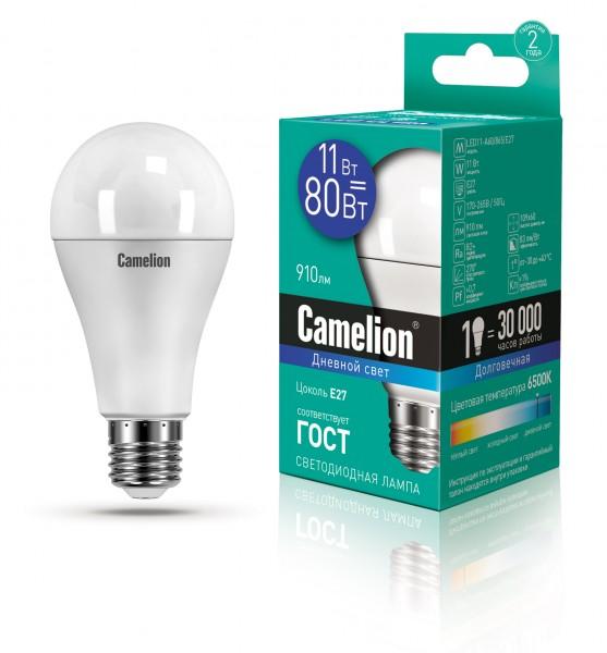 лампа светодиодная camelion e27 led11-a60/865 11вт