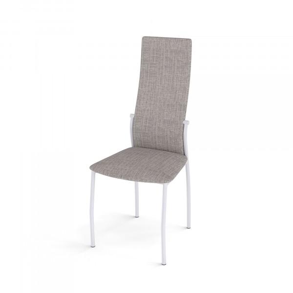 стул галс каркас белый/ткань elain №9 бежевый diklinе недорого