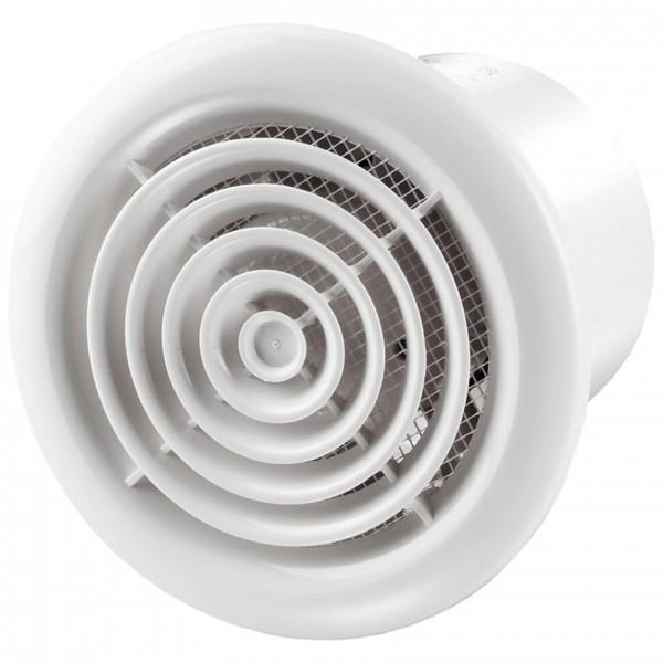 вентилятор вытяжной осевой накладной 125мм вентс 125пф белый, для круглых проемов, vents