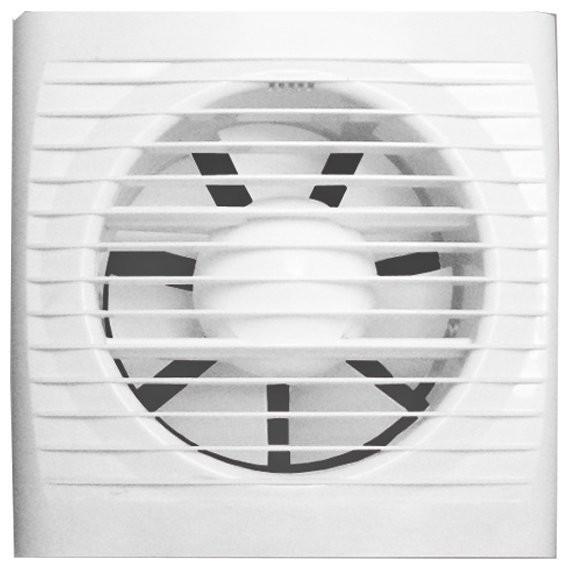 вентилятор вытяжной осевой накладной 125мм era 5c-et белый, с обр.клап и таймером, эра