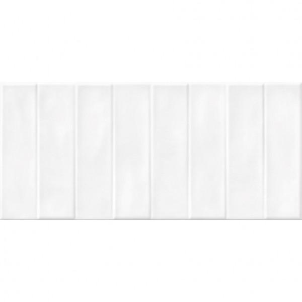 настенная плитка pudra 20х44 рельеф кирпич белый