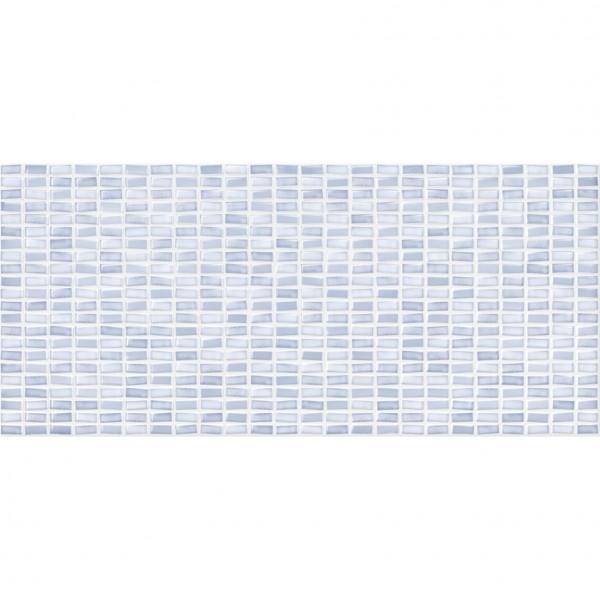 настенная плитка pudra 20х44 рельеф мозаика голубой