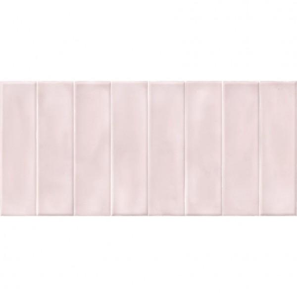 настенная плитка pudra 20х44 рельеф кирпич розовый