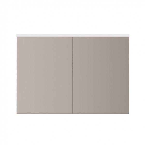 шкаф-зеркало с led-подсветкой am.pm spirit 2.0 100см m70amcx1001wg белый