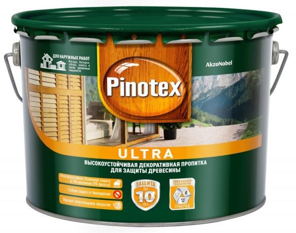 влагостойкая лазурь для дерева pinotex ultra сосна 9л