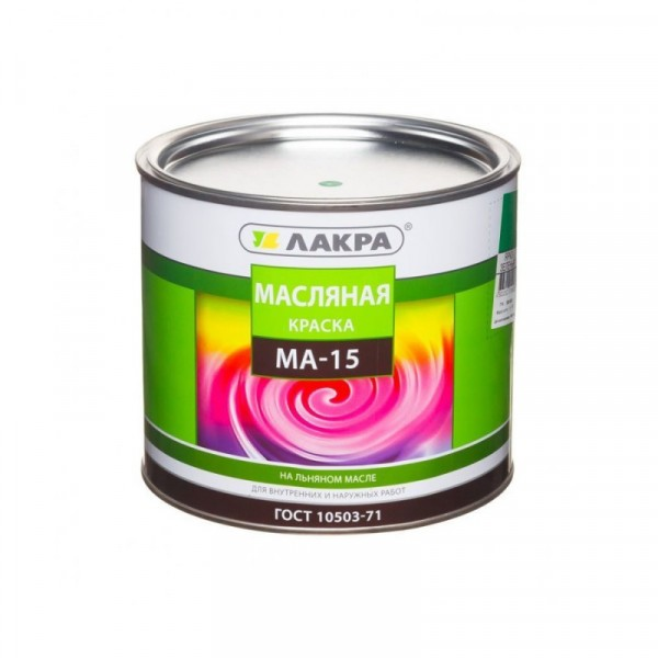 краска ма-15 салатовая 0,9кг /лакра/