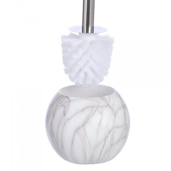 ерш для унитаза белый мрамор