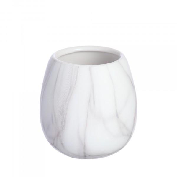 стакан для зубных щеток vanstore белый мрамор