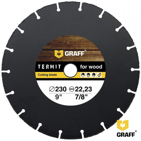 Фото - диск отрезной по дереву для ушм, 230*2*22.23, graff termit230 диск отрезной по металлу 230 2 0 22 23 graff gadm 230 20