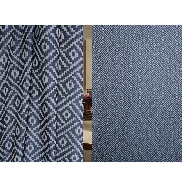 подушка декоративная узор 40x40 жаккард синий