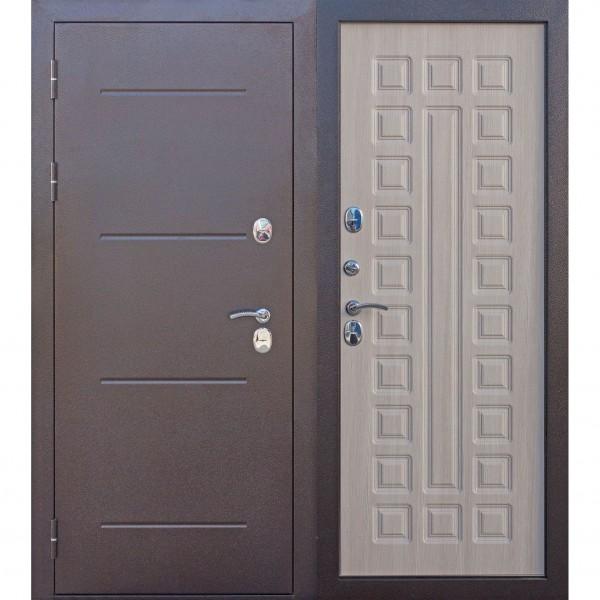 дверь входная 11 см isoterma медный антик лиственница мокко (860мм) левая 2050х860 левая,