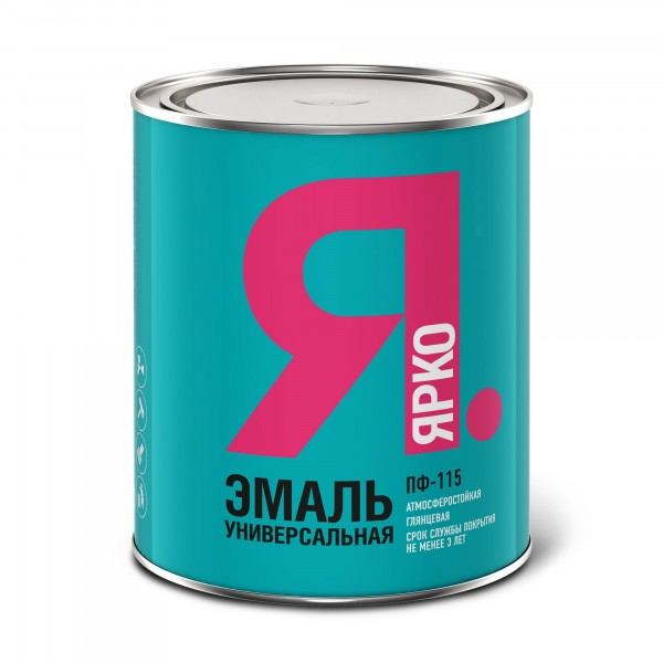 эмаль ярко пф-115 красная 0,8 кг