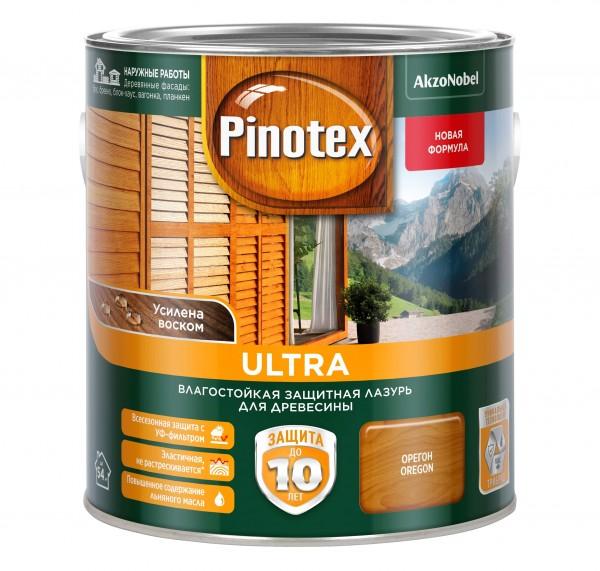 влагостойкая лазурь для дерева pinotex ultra орегон 2,7л