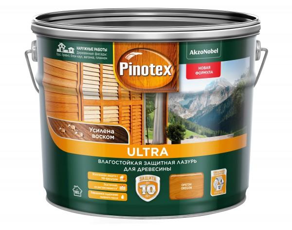 влагостойкая лазурь для дерева pinotex ultra орегон 9л