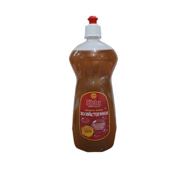 мыло хозяйственное жидкое 1л pilotex 72% недорого