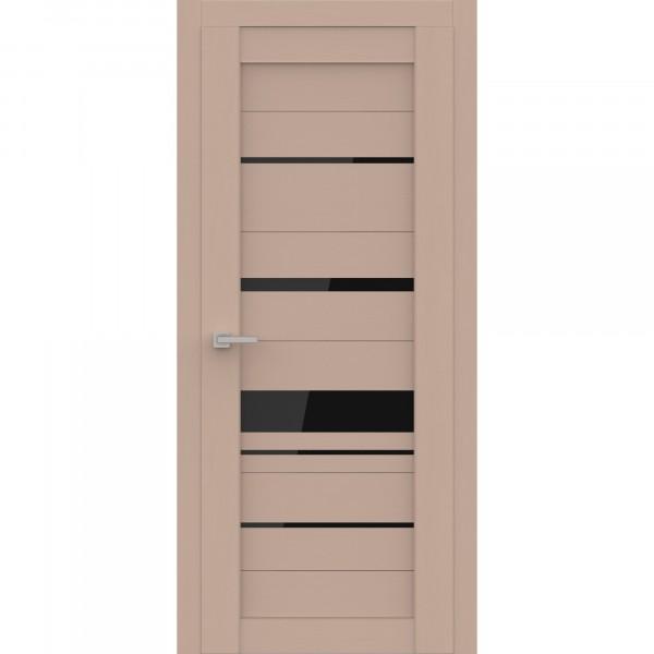 полотно дверное остеклённое эко deliss 308,пвх 2000х700мм,soft латте ясень