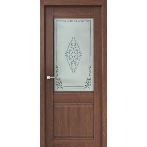 полотно дверное остеклённое эко сицилия дон,пвх 2000х800мм,филадельфия коньяк