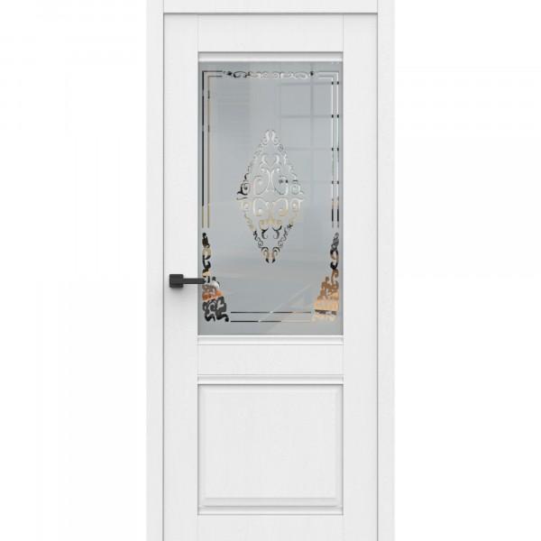 полотно дверное остеклённое эко сицилия дон,пвх 2000х700мм,snow soft