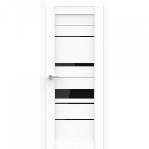 полотно дверное остеклённое эко deliss 308,пвх 2000х600мм,snow soft