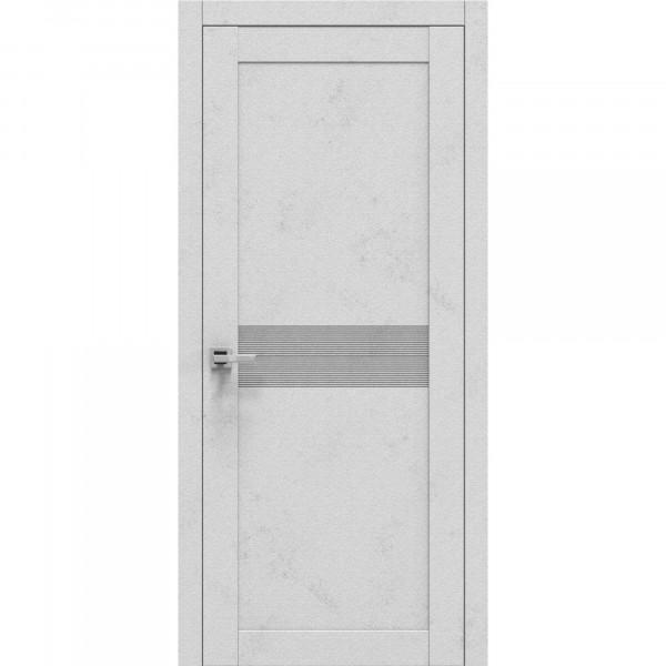 полотно дверное глухое emalit эко горизонт,пвх 2000х800мм,бетон светлый