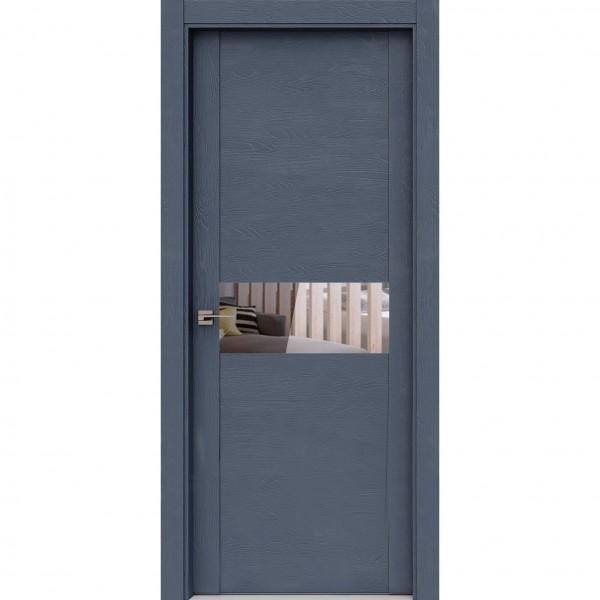 полотно дверное остеклённое тренд 5,пвх 2000х700мм,grey soft