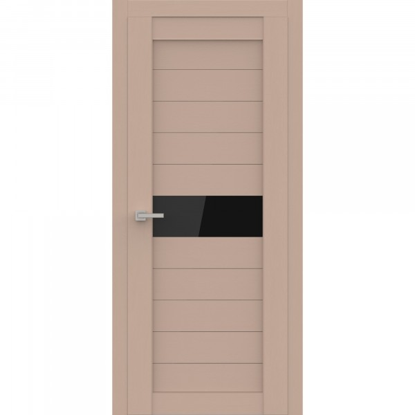 полотно дверное остеклённое эко deliss 327,пвх 2000х800мм,soft латте ясень