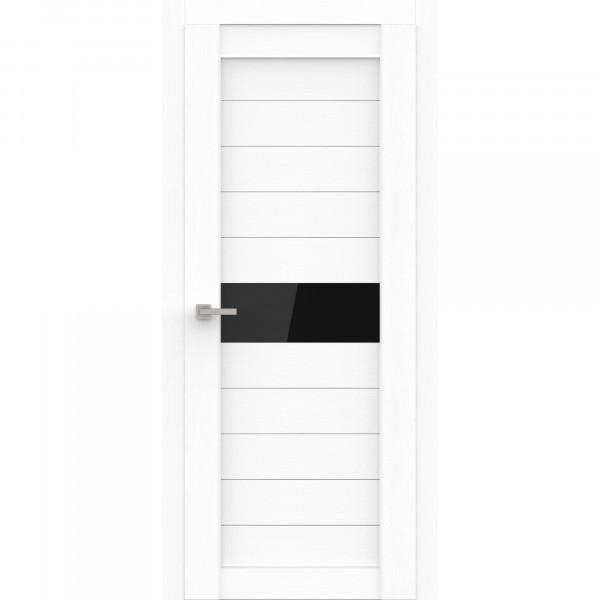 полотно дверное остеклённое эко deliss 327,пвх 2000х600мм,snow soft