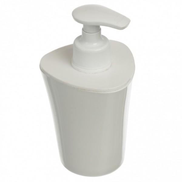 дозатор для жидкого мыла smile белый 406-03