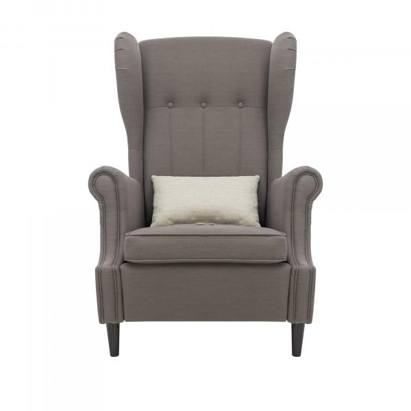 кресло классическое leset монтего 107х81см ткань коричневый