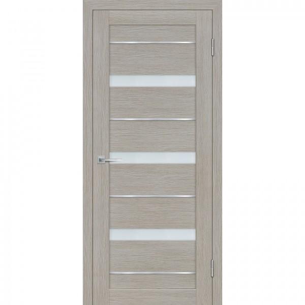 полотно дверное остеклённое техно 642 2000х600мм.,3d покрытие, цвет светло-серый