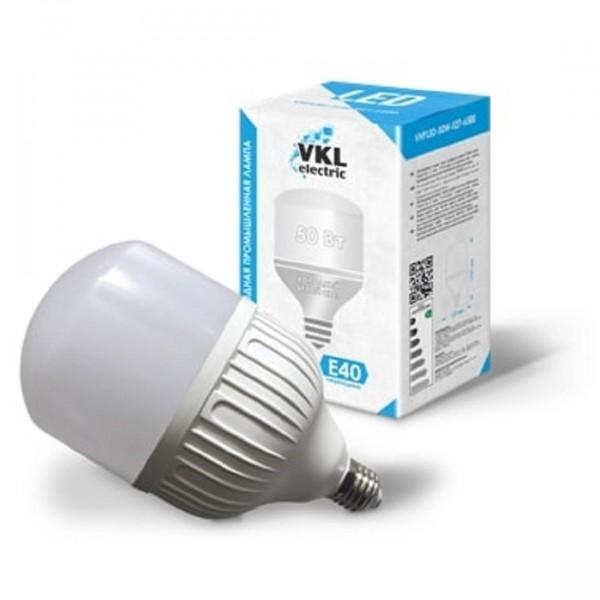 лампа светодиодная vkl electric 1190984 е27 груша 50вт 6500к