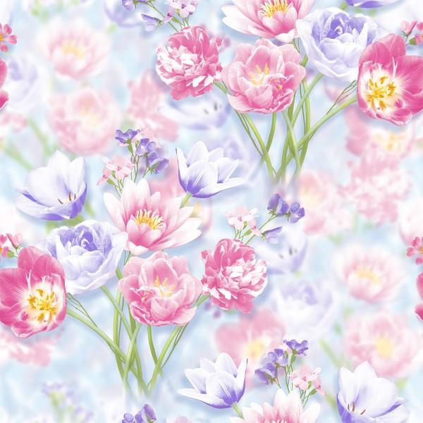 обои 1036-011п пермские обои полянка бумага 0.53x10,05м цветы многоцветный