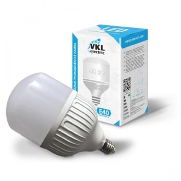 лампа светодиодная vkl electric 1190983 е27 груша 40вт 6500к
