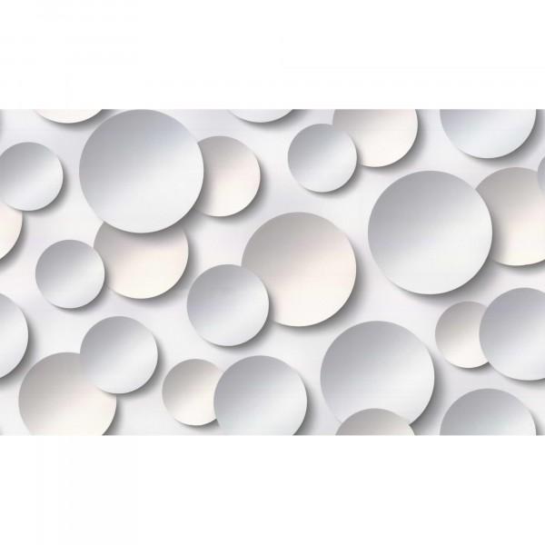 обои 10360-03 артекс 3д круги флизелин 1.06x10,06м геометрия светло-серый