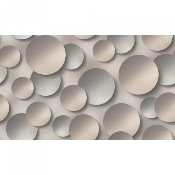 обои 10360-05 артекс 3д круги флизелин 1.06x10,06м геометрия темно-коричневый