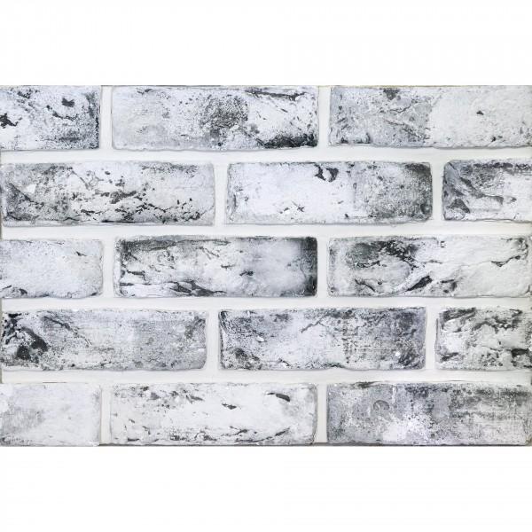 камень интерьерный гипсовый старый кирпич 21,5*6,5 белый 420