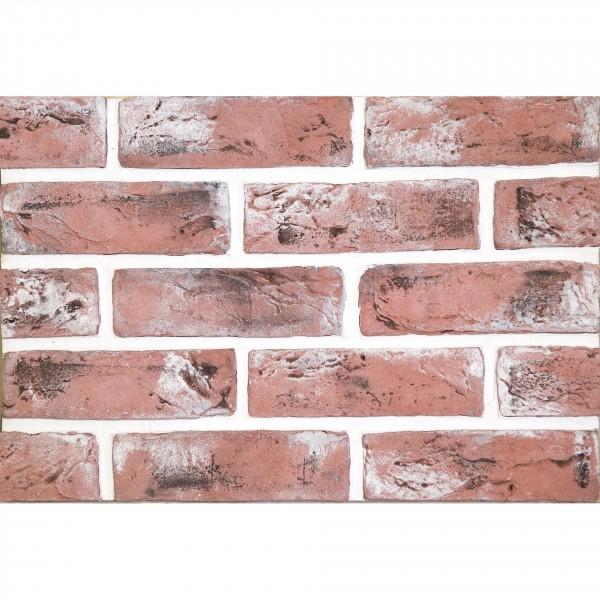 камень интерьерный гипсовый старый кирпич 21,5*6,5 красный 600